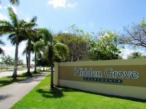 Hidden Grove sign